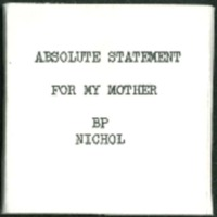 Absolute Statement for my Mother<br /><br />